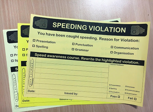 speeding ticket